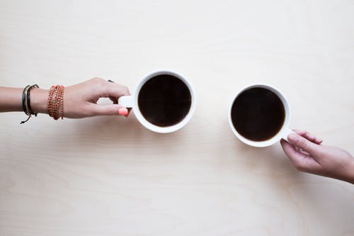lekkere koffie drinken